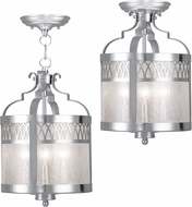 Livex 4733-91 Westfield Contemporary Brushed Nickel Entryway Light Fixture / Home Ceiling Lighting