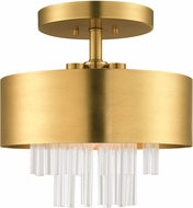 Livex 48872-08 Orenburg Natural Brass Ceiling Lighting Fixture