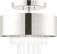 Livex 48872-35 Orenburg Polished Nickel Ceiling Light Fixture