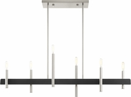 Livex 49336-91 Denmark Modern Brushed Nickel with Bronze Accents Island Lighting
