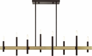 Livex 49338-07 Denmark Modern Bronze with Antique Brass Accents Kitchen Island Lighting