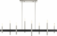 Livex 49338-91 Denmark Modern Brushed Nickel with Bronze Accents Kitchen Island Light