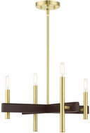 Livex 49344-12 Denmark Contemporary Satin Brass Mini Chandelier Light