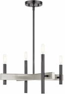 Livex 49344-46 Denmark Modern Black Chrome Mini Ceiling Chandelier