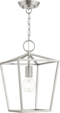 Livex 49432-91 Devonshire Brushed Nickel Entryway Light Fixture