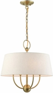 Livex 49444-01 Cartwright Antique Brass Drum Pendant Lighting
