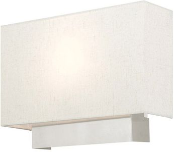 Livex 49801-91 Meadow Brushed Nickel Wall Sconce Lighting