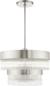 Livex 49824-91 Norwich Brushed Nickel Mini Hanging Chandelier