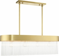 Livex 49826-33 Norwich Solid Gold Kitchen Island Light Fixture