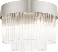 Livex 49827-91 Norwich Brushed Nickel Flush Mount Light Fixture