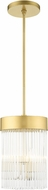 Livex 49828-33 Norwich Soft Gold Mini Hanging Pendant Light