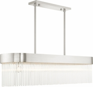 Livex 49830-91 Norwich Brushed Nickel Kitchen Island Light