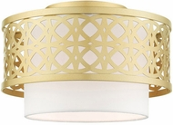 Livex 49862-33 Calinda Contemporary Soft Gold 12  Flush Lighting