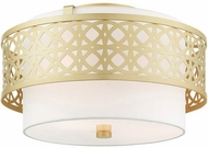 Livex 49863-33 Calinda Modern Soft Gold 16  Overhead Lighting