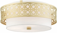 Livex 49864-33 Calinda Modern Soft Gold 20  Flush Mount Lighting Fixture