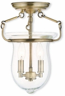 Livex 50293-01 Canterbury Antique Brass Overhead Light Fixture