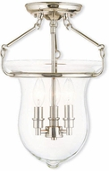Livex 50295-35 Canterbury Polished Nickel Ceiling Light Fixture