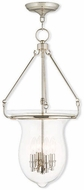 Livex 50298-35 Canterbury Polished Nickel Foyer Lighting Fixture