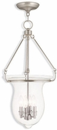 Livex 50298-91 Canterbury Brushed Nickel Entryway Light Fixture