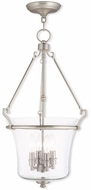 Livex 50406-91 Buchanan Brushed Nickel Foyer Light Fixture