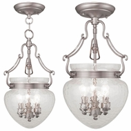 Livex 5041-91 Duchess Brushed Nickel Foyer Lighting / Ceiling Light Fixture