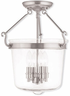 Livex 50485-91 Rockford Brushed Nickel Ceiling Lighting Fixture