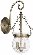 Livex 50501-01 Everett Antique Brass Wall Sconce Light