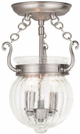 Livex 50502-91 Everett Brushed Nickel Flush Ceiling Light Fixture