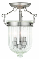 Livex 50514-91 Coventry Brushed Nickel Ceiling Light Fixture