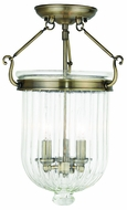 Livex 50516-01 Coventry Antique Brass Ceiling Lighting Fixture