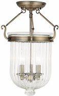Livex 50516-01 Coventry Antique Brass Overhead Light Fixture