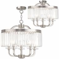 Livex 50545-91 Ashton Brushed Nickel Mini Chandelier Light / Overhead Lighting Fixture