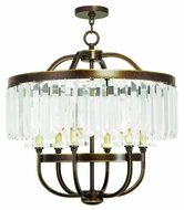 Livex 50546-64 Ashton Hand Painted Palacial Bronze Lighting Chandelier