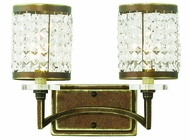 Livex 50562-64 Grammercy Hand Painted Palacial Bronze 2-Light Bathroom Light Sconce
