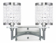 Livex 50562-91 Grammercy Brushed Nickel 2-Light Bathroom Lighting Sconce