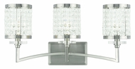 Livex 50563-91 Grammercy Brushed Nickel 3-Light Bath Lighting Sconce