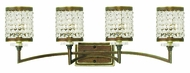 Livex 50564-64 Grammercy Hand Painted Palacial Bronze 4-Light Bathroom Wall Light Fixture