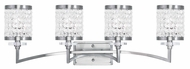 Livex 50564-91 Grammercy Brushed Nickel 4-Light Bathroom Lighting