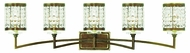 Livex 50565-64 Grammercy Hand Painted Palacial Bronze 5-Light Lighting For Bathroom