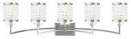 Livex 50565-91 Grammercy Brushed Nickel 5-Light Bath Lighting
