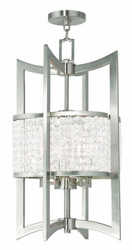 Livex 50567-91 Grammercy Brushed Nickel Entryway Light Fixture
