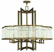 Livex 50579-64 Grammercy Hand Painted Palacial Bronze Chandelier Light