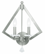Livex 50662-91 Diamond Contemporary Brushed Nickel Wall Mounted Lamp