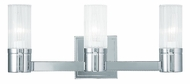Livex 50683-05 Midtown  Modern Polished Chrome ADA 3-Light Bathroom Lighting Fixture