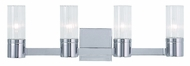 Livex 50684-05 Midtown  Contemporary Polished Chrome ADA 4-Light Vanity Lighting