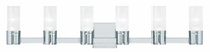 Livex 50685-05 Midtown  Modern Polished Chrome ADA 6-Light Vanity Light