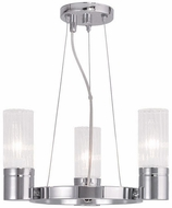 Livex 50693-05 Midtown Modern Polished Chrome Hanging Chandelier