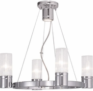 Livex 50694-05 Midtown Contemporary Polished Chrome Chandelier Lighting