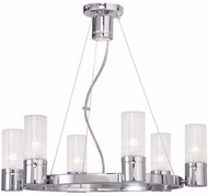 Livex 50696-05 Midtown Contemporary Polished Chrome Lighting Chandelier