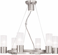 Livex 50696-91 Midtown Modern Brushed Nickel Chandelier Lamp